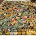 供应新产品手工丝毯-荷花图案