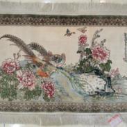 挂毯国色天香100桑蚕丝挂毯图片