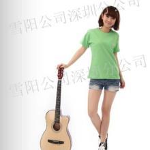 供应百搭女T恤全棉广告商圆领衫18色 空白T恤 可代客印图图片