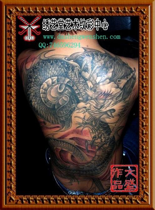 北京纹身的店刺青名师李大盛