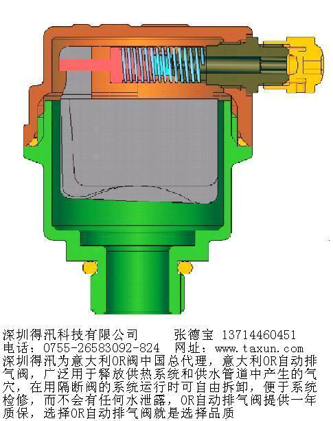 pn25  复合式排气阀  本阀为圆桶状阀体,其内部主要含有乙组不锈钢球图片