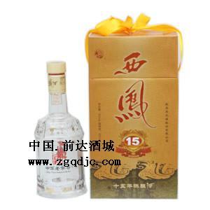 醇酿西凤酒15年图片