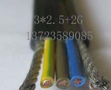 供应3芯钢丝电梯空调专用扁线 电梯空调扁电缆 3芯2.5平方钢丝扁电缆批发
