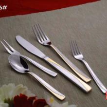 供应镀金不锈钢餐具,镀银西餐刀叉勺,镀金银礼盒套装刀叉更。镀金不批发