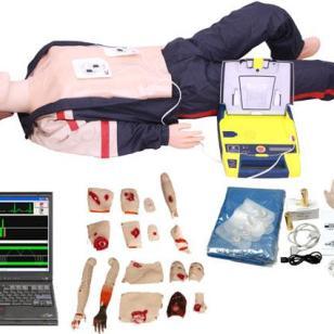 电脑心肺复苏AED除颤创伤模拟人图片