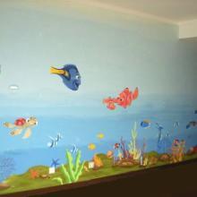 供应成都游泳池壁画