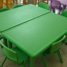 供应嘉禾外贸塑料幼儿长方型桌椅