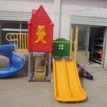 供应山东哪里卖大型滑梯幼儿塑料滑梯滨州文鹏幼教玩具批发