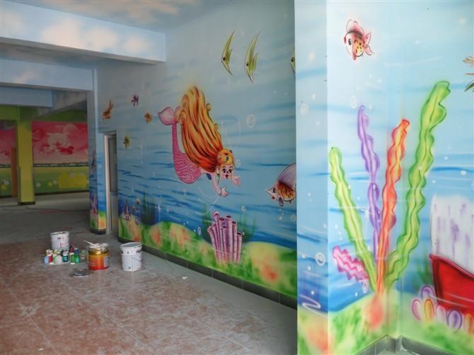 山东幼儿园墙体喷绘滨州室内手绘 山东幼儿园墙体喷绘滨州室内手绘供