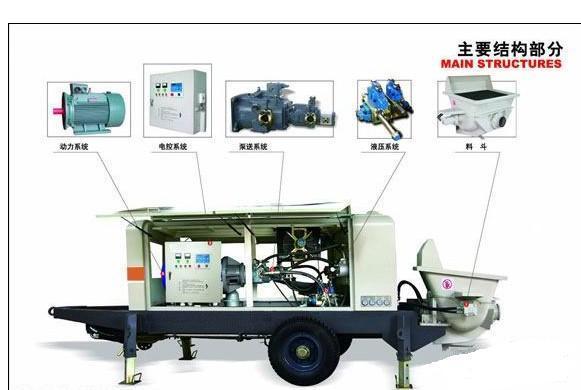 供应电动拖式混凝土泵2