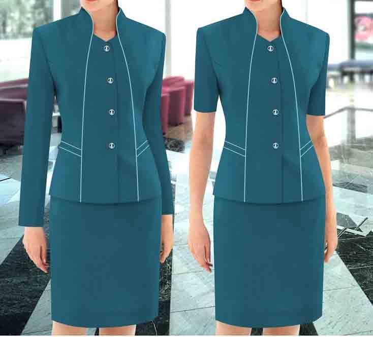 定做企业制服职业套装员工衬衫西服衬