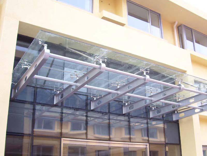 钢结构玻璃雨棚性能  q235材质的系列钢管