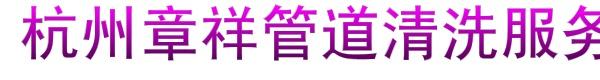 杭州章祥管道清洗服务有限公司