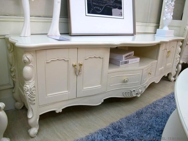 供应l-06电视柜伊莎丽宫法式实木家具欧式新古典白色浪漫简约