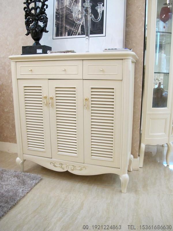 供应l-2011鞋柜伊莎丽宫法式实木家具欧式新古典白色浪漫简欧图片