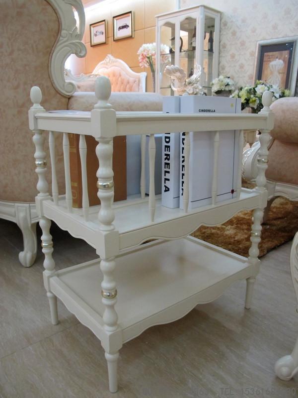 供应l-03书报架伊莎丽宫法式实木家具欧式新古典白色浪漫简约
