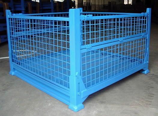 供应仓储搬运设备钢托盘堆垛架物料箱仓储笼——聊城中天