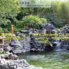 供应广州新塘风水假山施工,鱼池施工设计,喷泉设计建造,锦鲤池制作批发