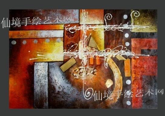 抽象画图片 抽象画样板图 抽象油画 酒店抽象画订制 东莞...