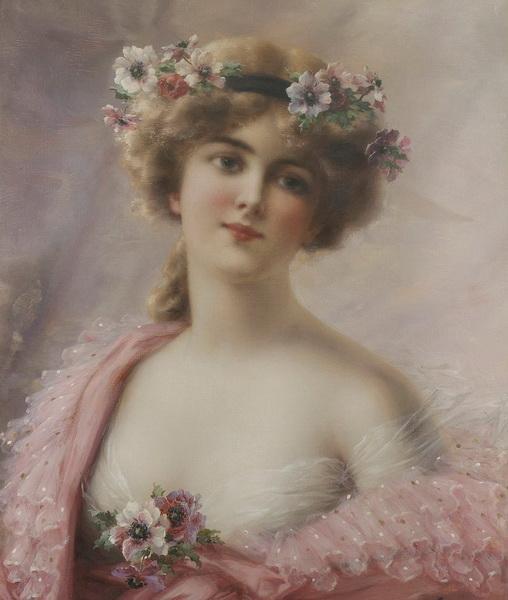 古典美女油画; 欧式人物油画;
