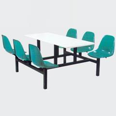 四川连体餐桌椅图片