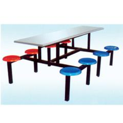 供应宁夏连体餐桌椅