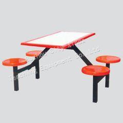 供应湖北连体餐桌椅