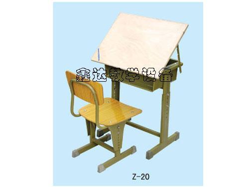 供应益阳美术升降课桌椅