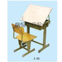 供应陕西美术课桌椅