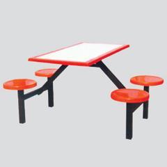 供应天津连体餐桌椅