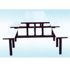 供应湖南连体餐桌椅