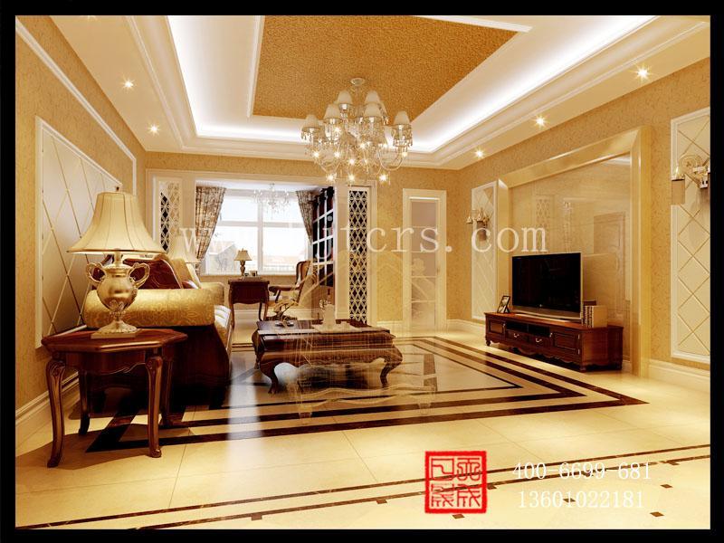 欧式风格别墅室内装饰设计 复式楼装修效果图高清图片