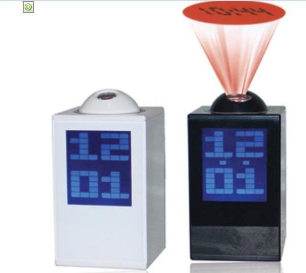 大屏幕投影钟 音乐投影闹钟LED显示投影钟投影时钟 可印LOGO