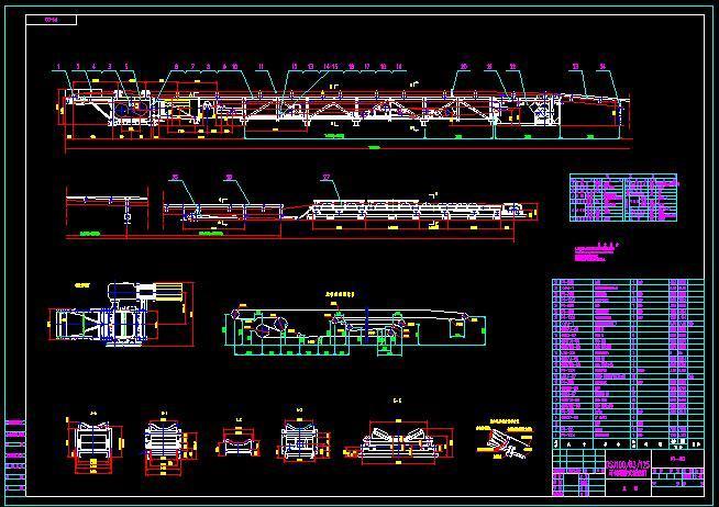 输送机cad机械图纸