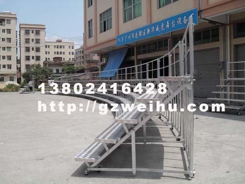 供应大型铝合金合影站架弧形合唱台
