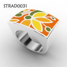 磁疗保健戒指-加工生产批发戒指 女 复古-项链绳 皮-浮雕加工