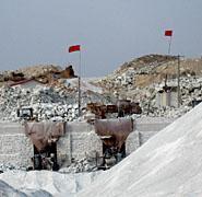 山东莱西透辉岩透灰岩矿石块矿石粉图片