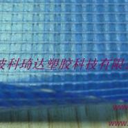 湖兰色水池PVC夹网布图片