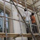 供应湛江市女儿墙防水铝合金框防水  水电安装高空外墙