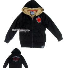 外贸原单尾货加绒加厚中大童舒适保暖卫衣42元件批发