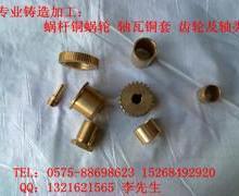 供应蜗杆蜗轮铜套轴瓦齿轮铜螺母图片