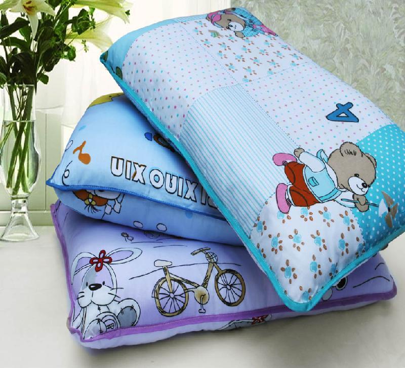 全棉卡通儿童枕头枕芯图片