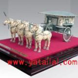供应西安仿古工艺品铜车马