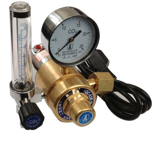 全铜电加热二氧化碳减压器yqc03r_全铜电加热