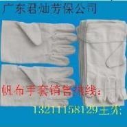 加大加厚耐用帆布手套生产厂家供货图片