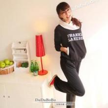 供应韩版热卖休闲显瘦字母长袖运动套装