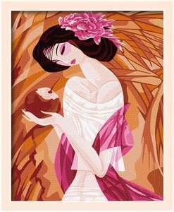 数字油画古典美女人物手绘油画diy数字画特价包邮大幅客厅高清图片