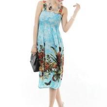 供应吊带裙2013年夏季最流行的时尚波西米亚长裙批发 条纹长裙批发