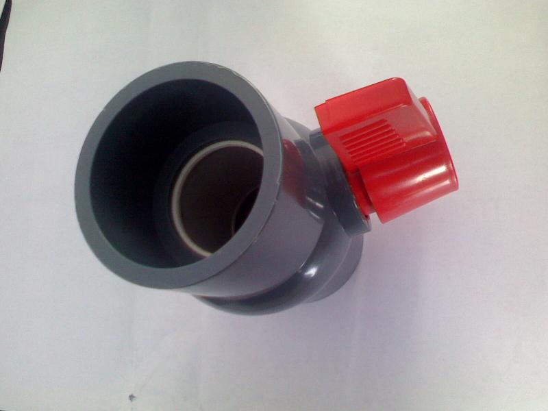 供应塑料球阀承插口螺口pvc球阀图片