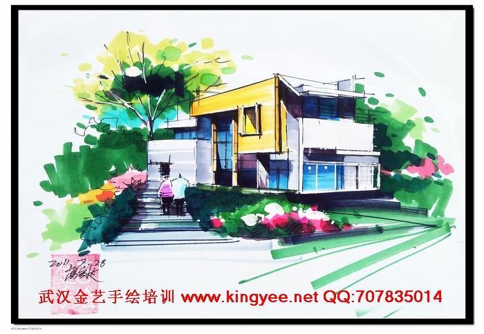 2012武汉考研快题手绘设计培训图片